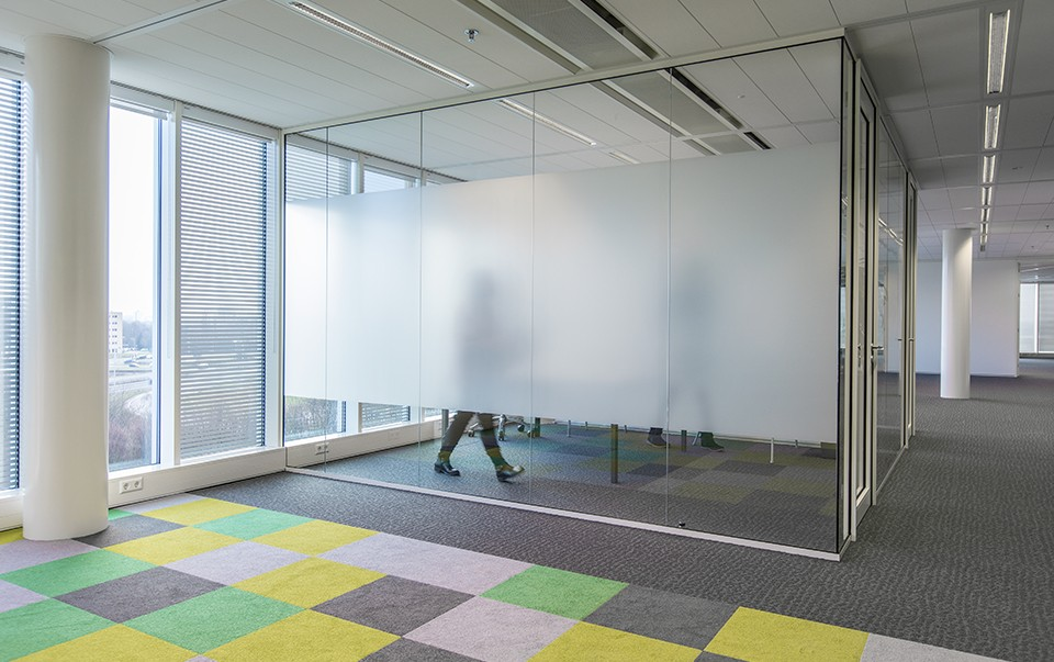decorative window film in office