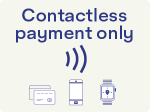Contactless payment only