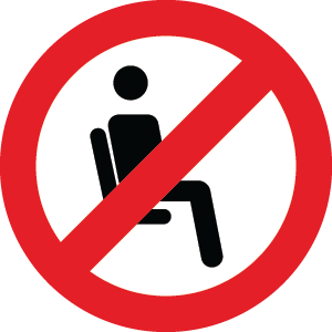 No seating